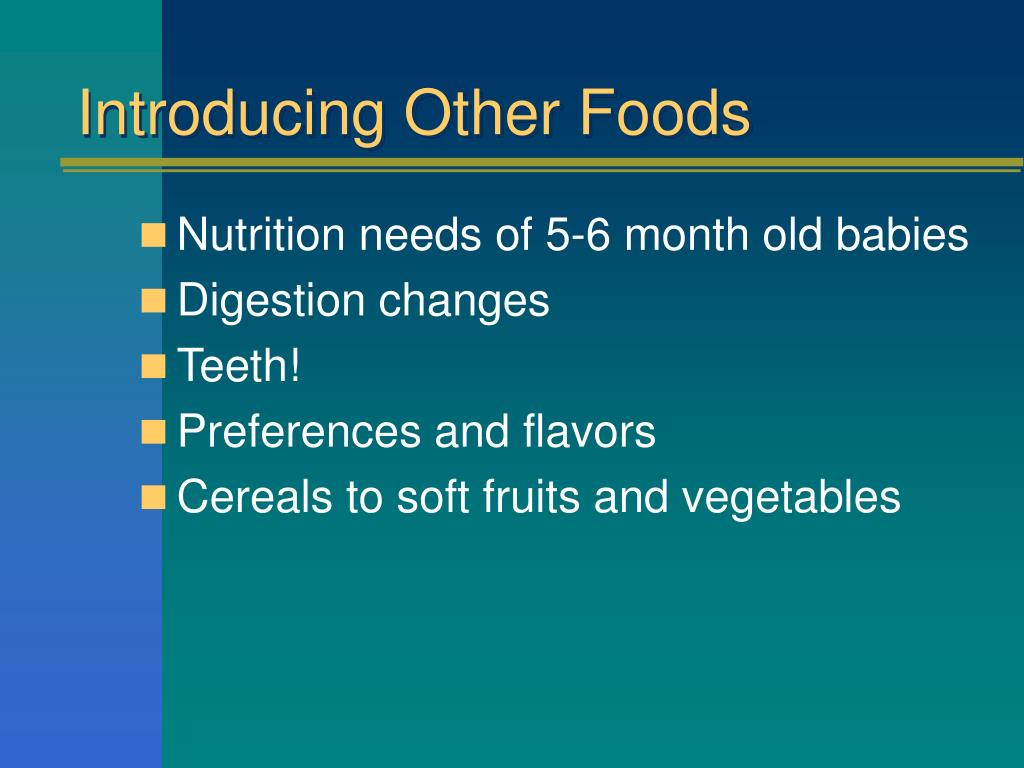 Introducing Other Foods