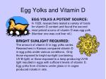 egg yolks and vitamin d