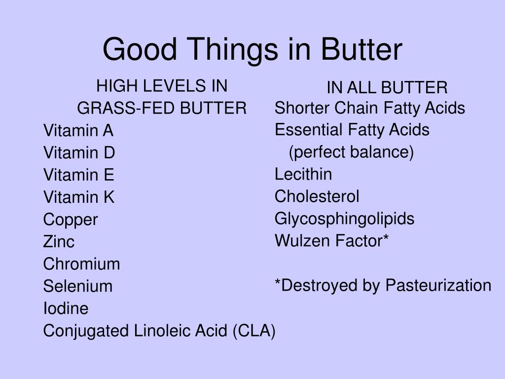Good Things in Butter