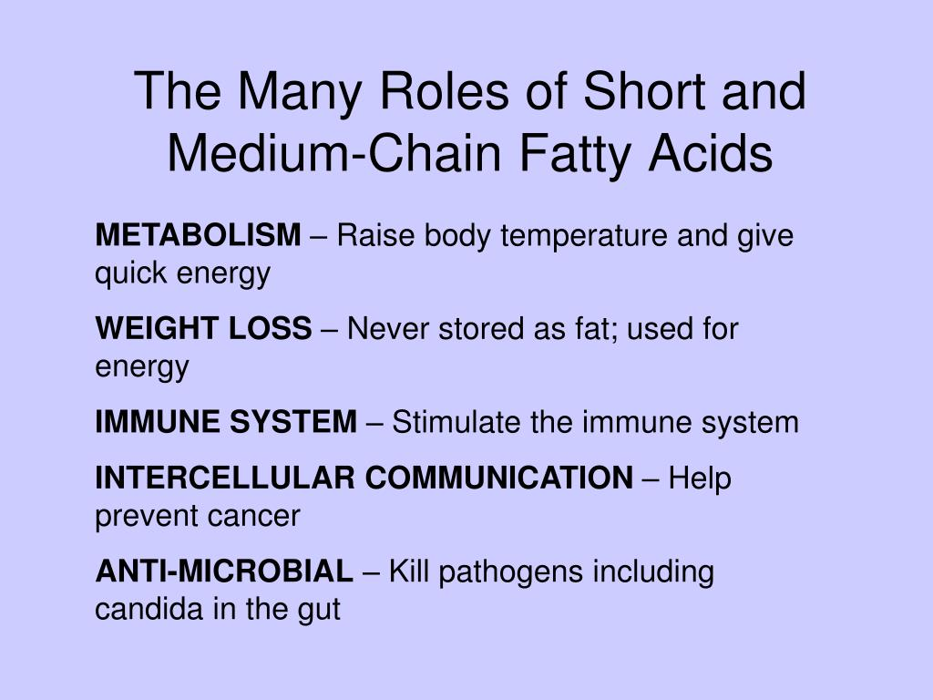 The Many Roles of Short and Medium-Chain Fatty Acids