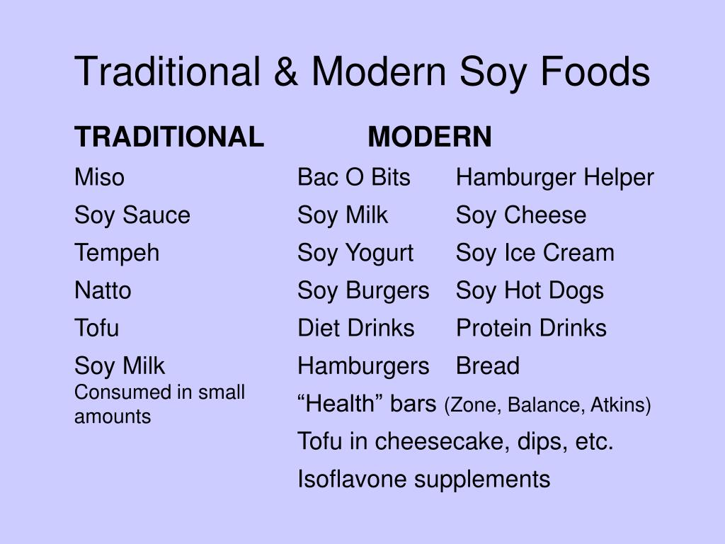 Traditional & Modern Soy Foods