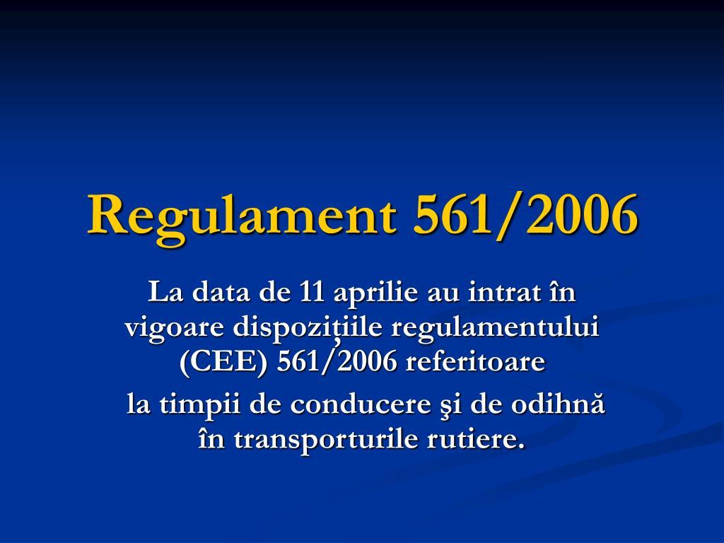 regulament 561 2006 l.