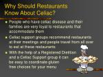 why should restaurants know about celiac13