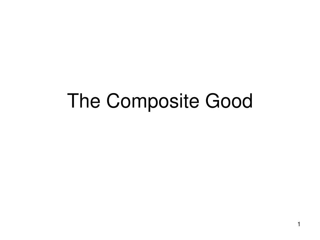 the composite good l.