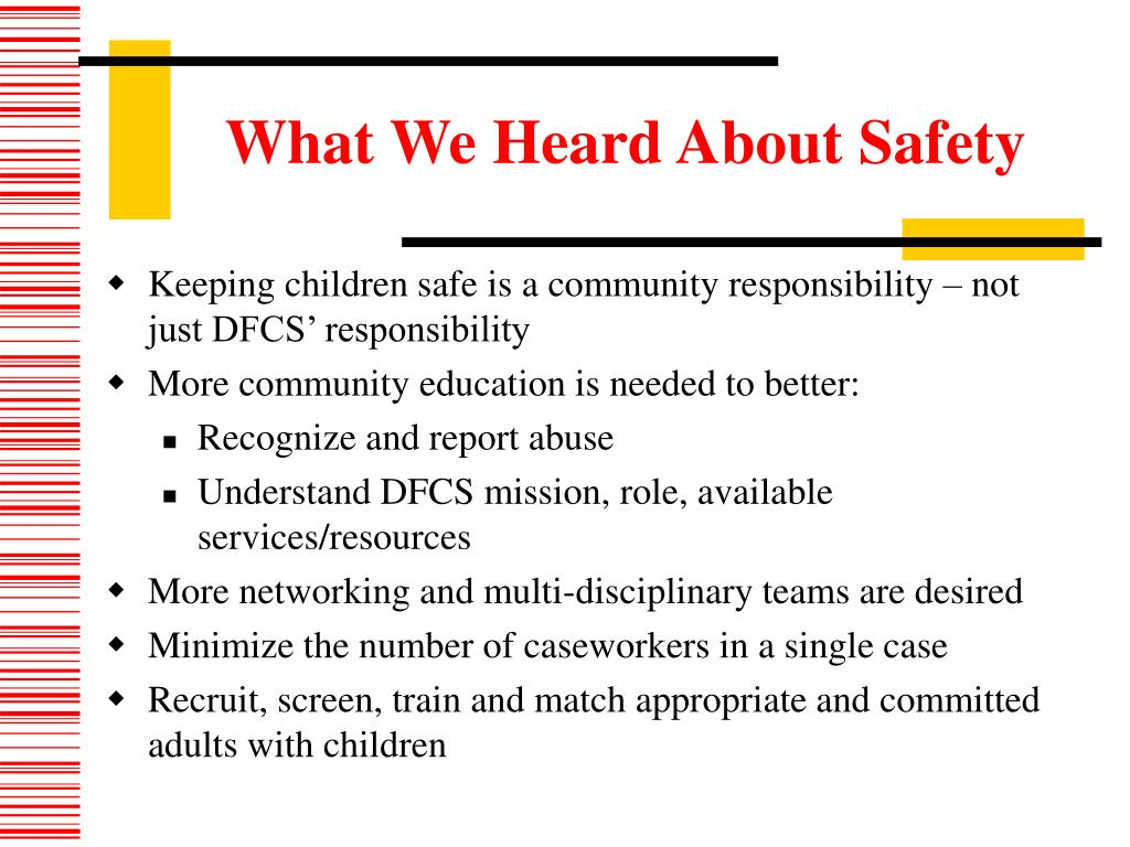 What We Heard About Safety