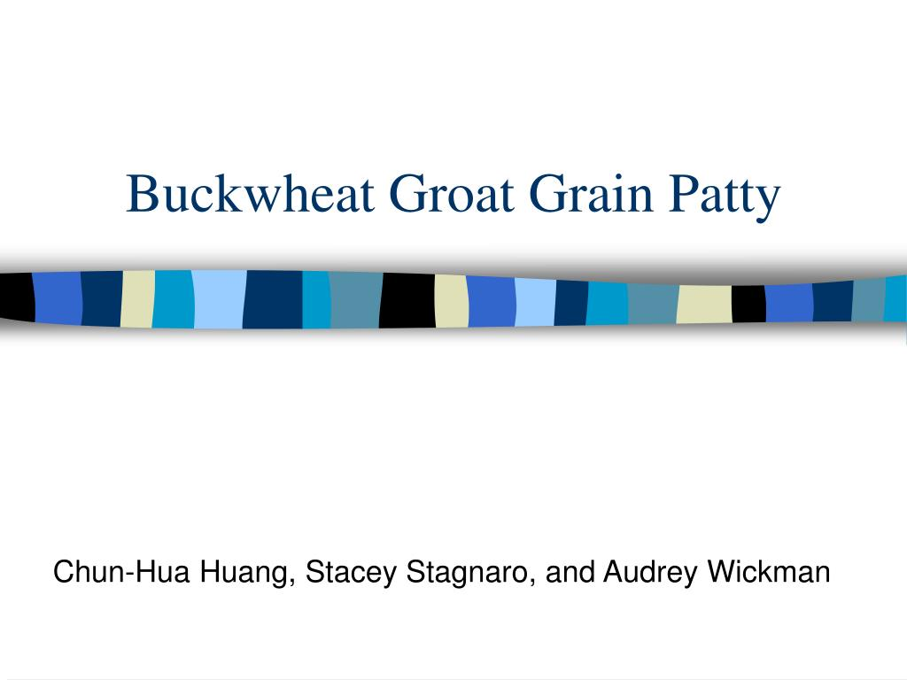 buckwheat groat grain patty l.