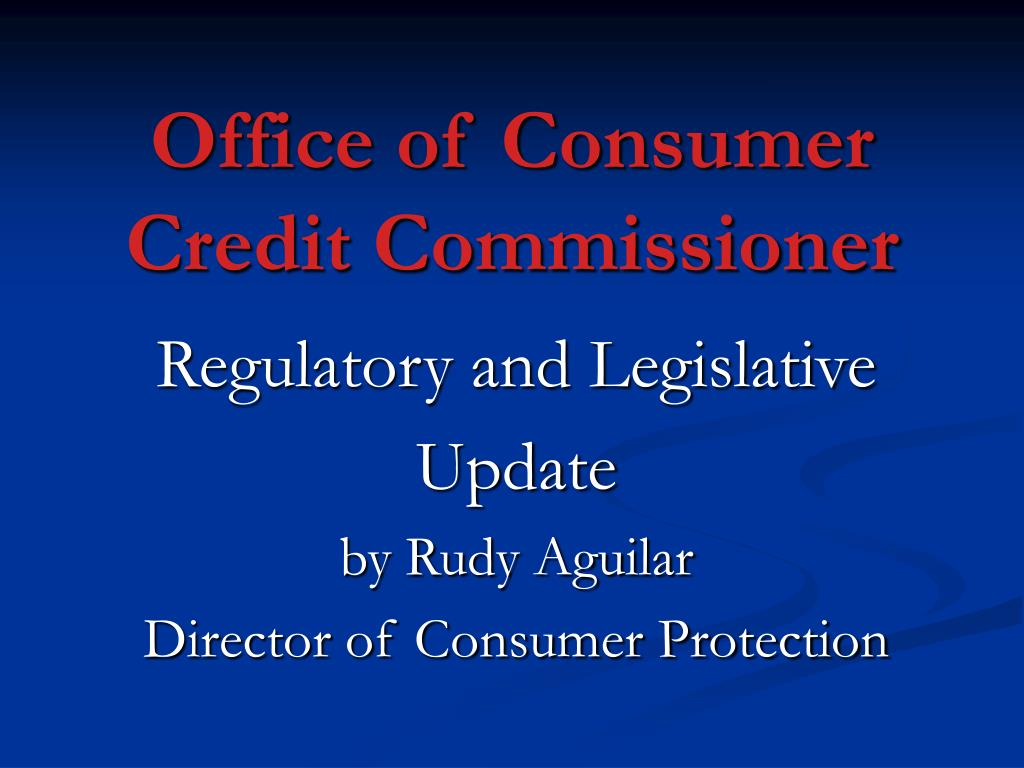 office of consumer credit commissioner l.