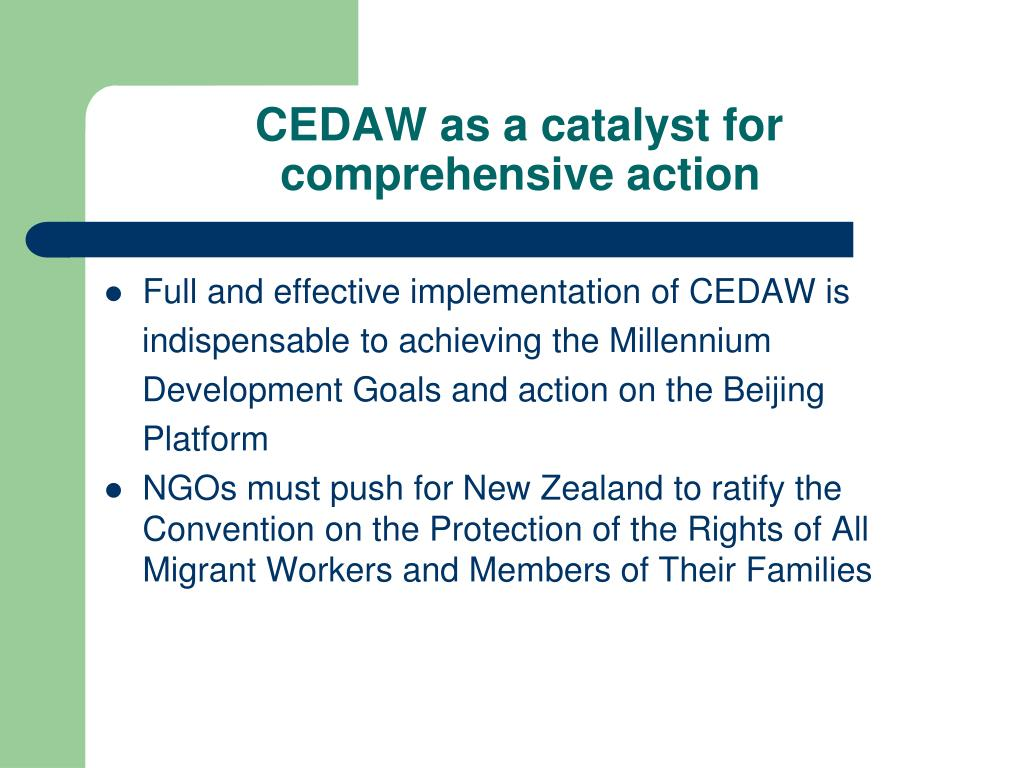 CEDAW as a catalyst for