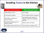 avoiding toxins in the kitchen