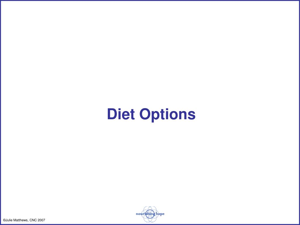 Diet Options
