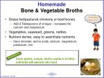 homemade bone vegetable broths