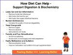 how diet can help support digestion biochemistry