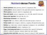 nutrient dense foods
