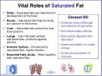 vital roles of saturated fat