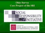 ohio survey core project of the sri