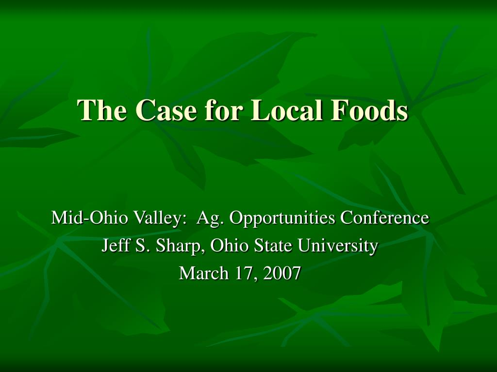 the case for local foods l.