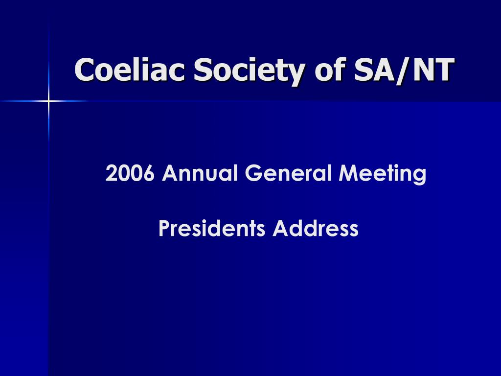 coeliac society of sa nt l.