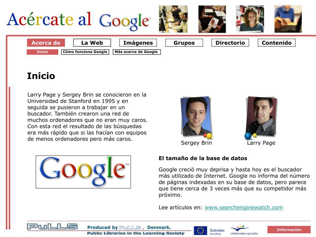 Om Google 1 Starten på Google