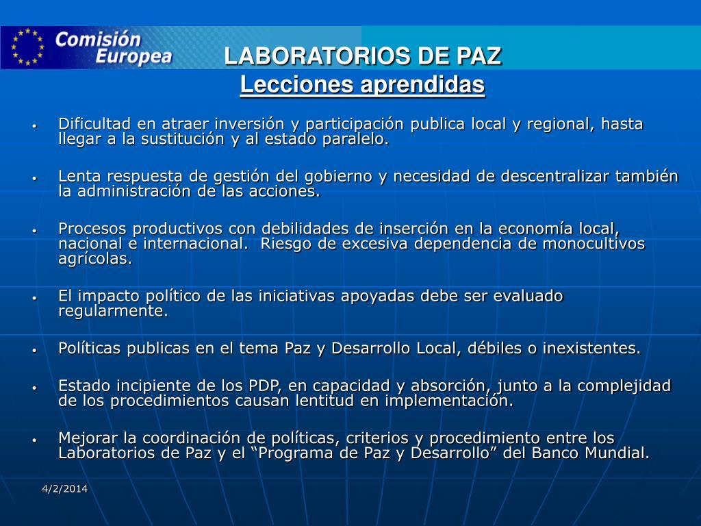 LABORATORIOS DE PAZ