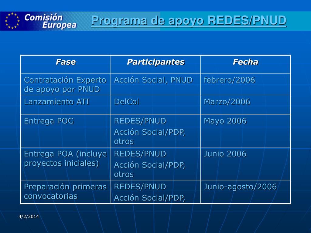 Programa de apoyo REDES/PNUD