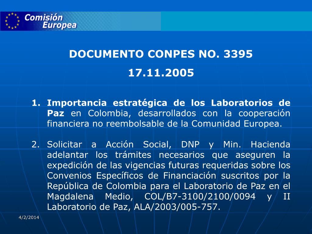DOCUMENTO CONPES NO. 3395