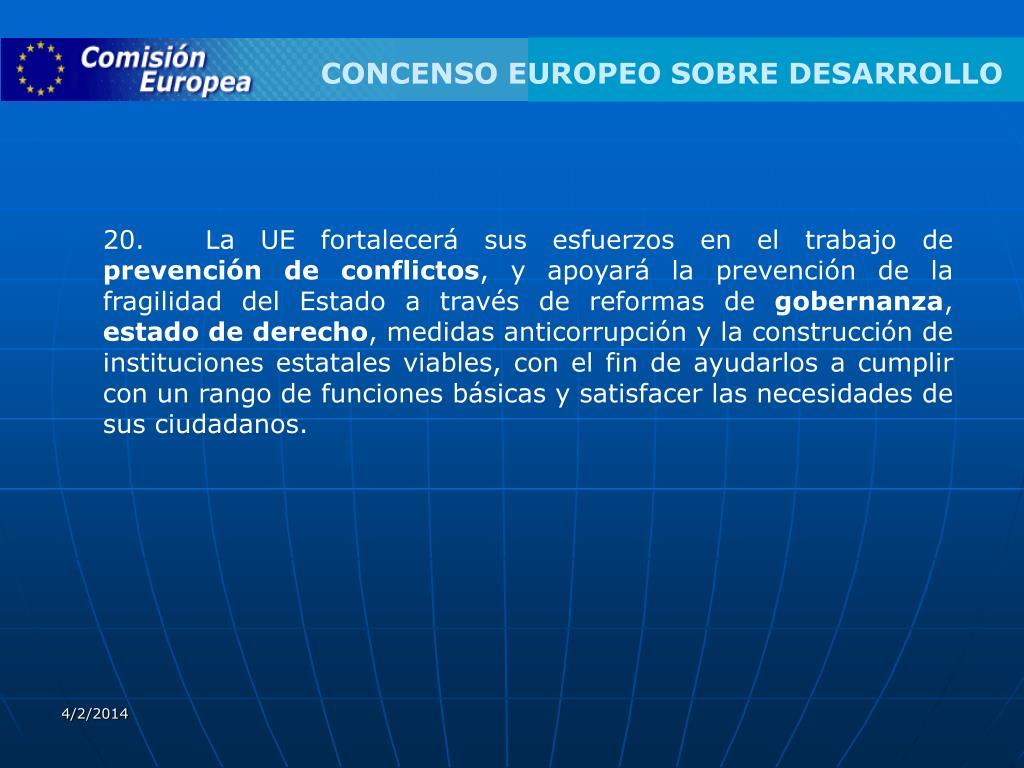 CONCENSO EUROPEO SOBRE DESARROLLO