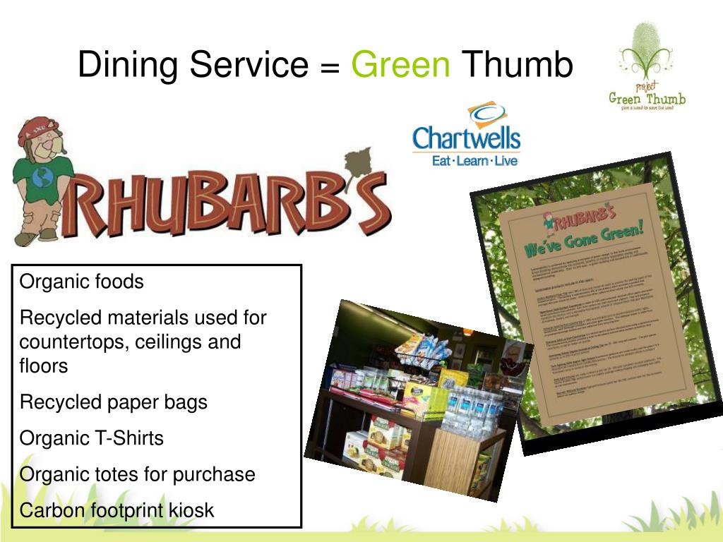dining service green thumb l.