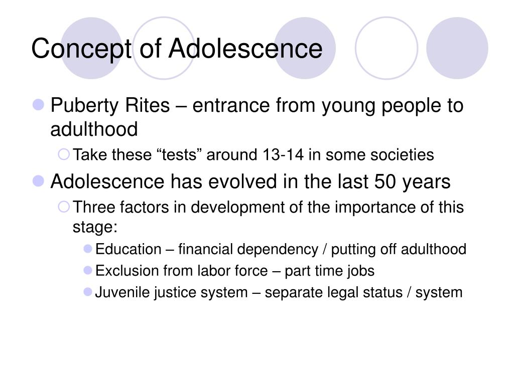 Concept of Adolescence