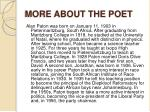 more about the poet