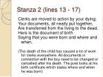 stanza 2 lines 13 17