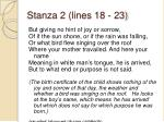 stanza 2 lines 18 23