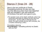 stanza 2 lines 24 28