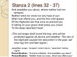 stanza 2 lines 32 37