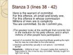 stanza 3 lines 38 42