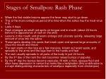 stages of smallpox rash phase