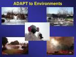 adapt to environments