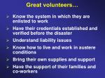 great volunteers