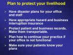 plan to protect your livelihood