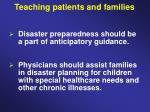 teaching patients and families