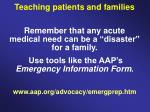teaching patients and families27