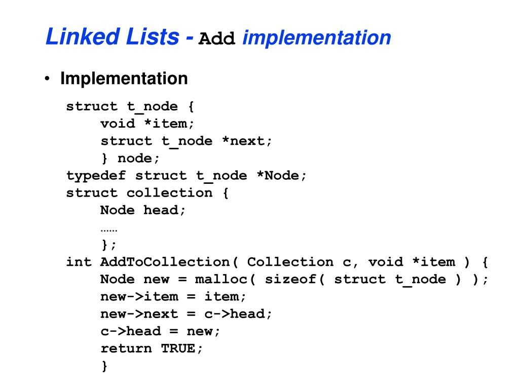Linked Lists -