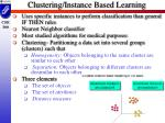 clustering instance based learning
