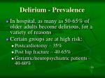 delirium prevalence