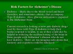 risk factors for alzheimer s disease119