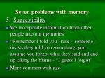 seven problems with memory90