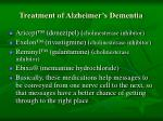treatment of alzheimer s dementia