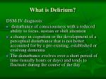 what is delirium44