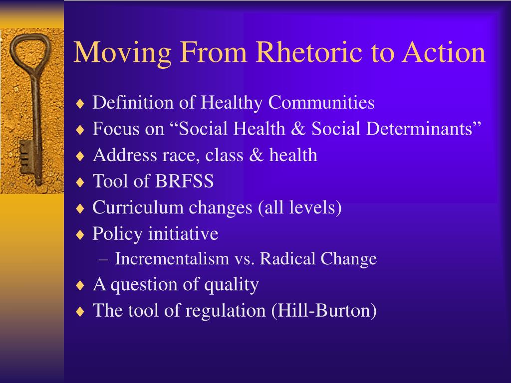 Moving From Rhetoric to Action