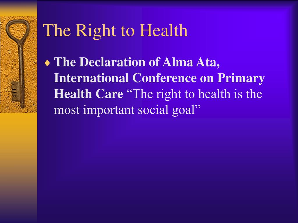 The Right to Health