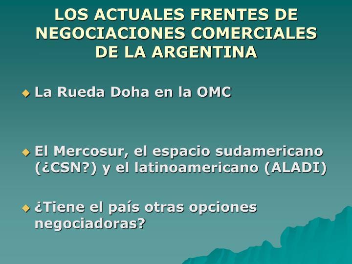 Los actuales frentes de negociaciones comerciales de la argentina